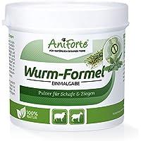AniForte Wurm-Formel 100 g für Schafe, Ziegen und Nutztiere, praktische und 100 Prozent natürliche Einmalgabe bei und nach Wurmbefall