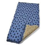 Active Hundebett, für Tierärzte, rutschfest Sky Blau Pfoten 15mx150cm von Bronte Glen Ltd