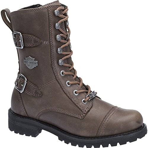 Harley Davidson Womens Balsa Leather Boots Stone