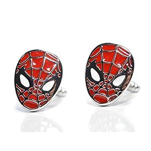 Schwarz Manschettenknöpfe Spiderman–Superhero Neuheit Manschettenknöpfe