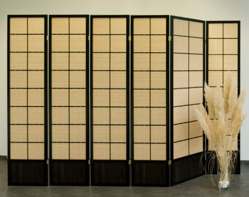 Paravent Bamboo 6 Black, Paravents by Cilios®