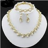 #4: White Color Pearl Imitation Necklace Set