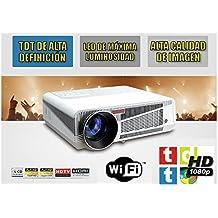 proyector mod HL580 alta luminosidad 200W led, TDTHD, Wifi, Android, Bluetooh, Alta definicion, 2 HDMI, 2 USB, VGA, AC3, 2 años de garantía