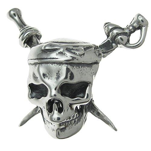 Stile antico in argento sterling 925caribbean pirates skull con perline per braccialetti europei