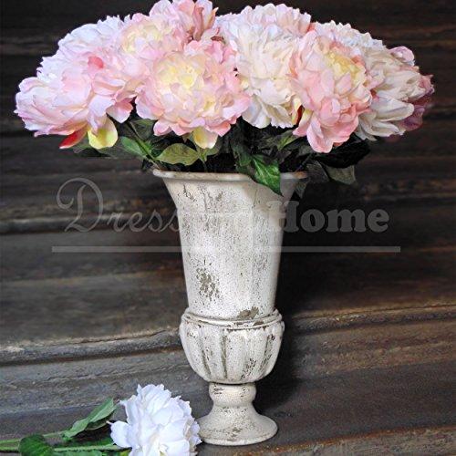 Vase de fer shabby chic blanc Mariclo