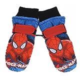 Moufles de ski enfant garçon Spider-man Bleu et Rouge de 4 à 10ans - Bleu/rouge, 4/6 ans