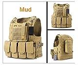 Anam Taktische Einsatzweste im Molle-Design, Weste für militärische Zwecke, Airsoft- und Counter-Strike-Spiele, für