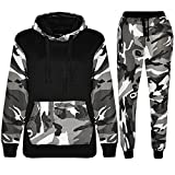 Search : Men's Army Camouflage Design Camo Tracksuit Hoodie Zipper Joggers 2 Piece Designer Suit