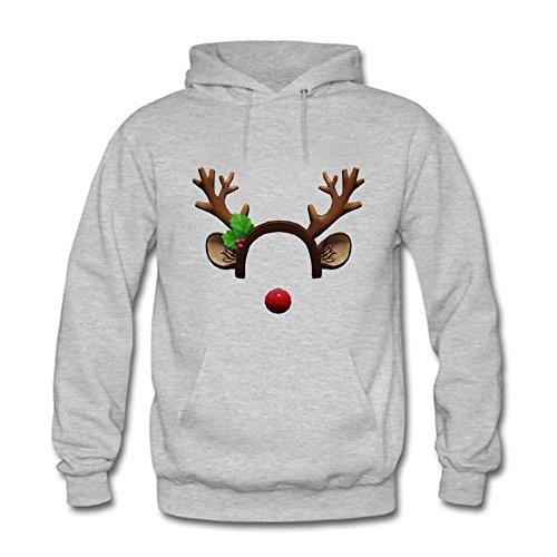 Unisex Hooded Sweatshirt Men Christmas Day Printed Outwear Pullover Coat