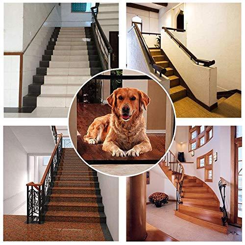 Magic Pet Safety Gate Barrera de Seguridad para Mascotas Portátil y plegable...