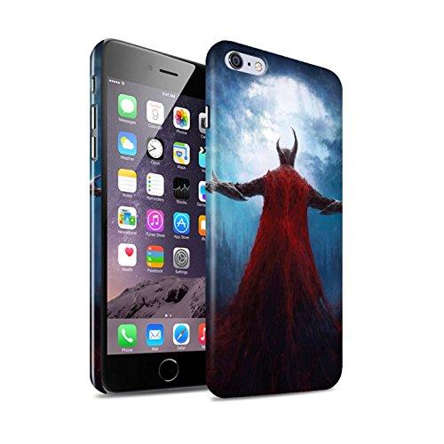 Offiziell Chris Cold Hülle / Glanz Snap-On Case für Apple iPhone 6+/Plus 5.5 / Gevatter Tod Muster / Dämonisches Tier Kollektion Dunkelste Stunde