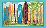 Northwest Art Mall ed-5745 SRN Key West Florida Surfbrett Rental Print von Künstler Evelyn Jenkins Drew, 27,9 x 43,2 cm