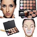 Boolavard 15 colori Concealer Palette Kit pennello libero viso trucco crema contorno