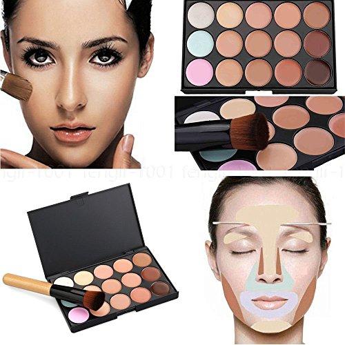 Boolavard 15 couleur correcteur Palette Kit libre pinceau maquillage Contour crème pour le visage