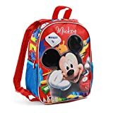 Karactermania Mickey Mouse Crayons-Dual Backpack (Small) Sac à Dos Enfants, 32 cm, 9.25 liters, Rouge (Red)