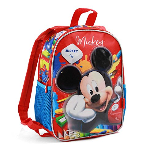 Karactermania Mickey Mouse Crayons-Dual Backpack (Small) Kinder-Rucksack, 32 cm, 9.25 liters, Rot (Red) (Mickey Schulrucksäcke)