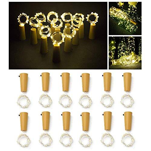 Botella luz, ALED LIGHT 12 Pack Botellas Vino Luces