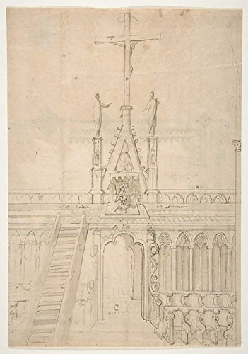 Anonymous - Design for Choir Stalls Showing The Entrance to The Choir Through The Rood Screen Kunstdruck (45,72 x 60,96 cm) - Choir Stall
