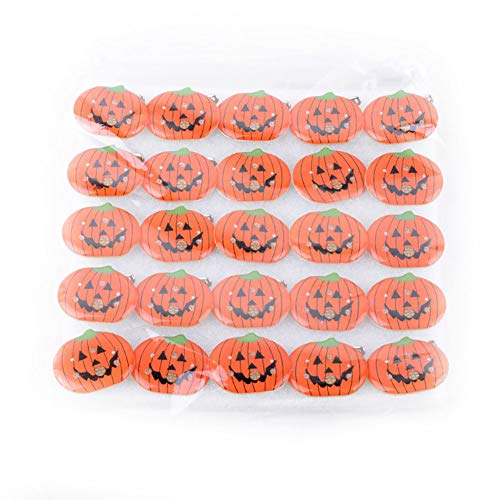 Halloween Party Set Halloween Kinder leuchtende Brosche Abzeichen Smiley Kürbis 1 Pack für Festival Cosplay Halloween Kostüm