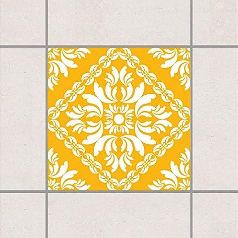 Fliesenaufkleber - Vera Rosa Melon Yellow 20cm x 20cm, Setgröße:20teilig