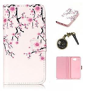 PU Coque Huawei Y5II / Huawei Y5 2 , Multifonction Case Wallet Cover Etui en cuir Étui de protection flip Wallet stand Cover avec des fentes de cartes pour Huawei Y5II / Huawei Y5 2 +Bouchons de poussière