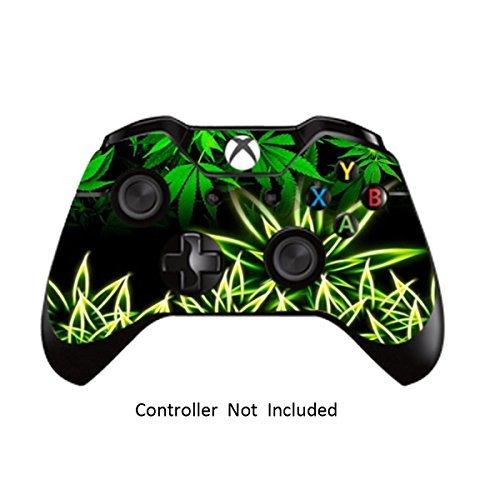 GameXcel ®  Xbox One Controller Haut - kundenspezifische Xbox 1 Fernbedienung Vinylaufkleber - Umgebaute Xbox One Zubehör umfassen Abziehbild - Weeds Black [Controller nicht enthalten]