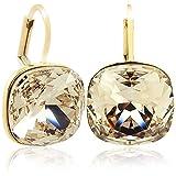 Ohrringe mit Kristalle von Swarovski Gold Silk NOBEL SCHMUCK