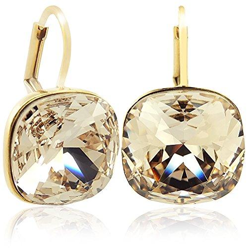 Ohrringe mit Kristalle von Swarovski® Gold Silk NOBEL SCHMUCK