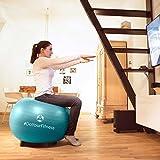 Gymnastikball »Pluto« inklusive Ballschale / Robuster Sitzball und Fitnessball / 75 cm / rot - 6
