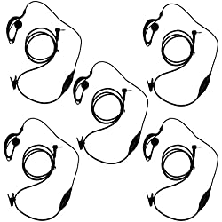 KEESN G Forme Clip-Ear Casque Oreillette/Micro pour Motorola Talkabout 2 Talkie Walkie Radio 2 Voies 1 Broche 100-0 (5 pièces)