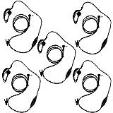 KEESIN G Forma de Clip Auriculares / Mic del auricular para Motorola Talkabout 2 radio de dos vías walkie talkie 1 pines 100-0 (5 piezas)