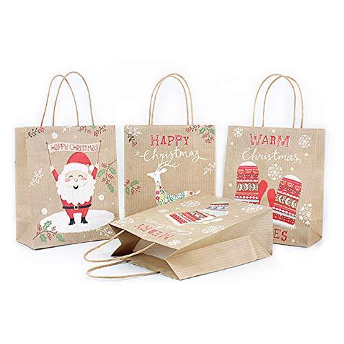 (TONVER Tasche, 1 Stück, Kuh-Papier, Süßigkeiten-Aufbewahrungstasche, Weihnachten, Party, Geschenktasche, Urlaub, Geburtstag, Hochzeit, Party, Papier, Random Pattern - M, 26x32x12cm)