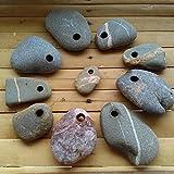 10 Strand Steine mit gebohrten Loch zum Basteln von dem