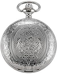 AMPM24WPK093–Reloj de bolsillo, correa de piel