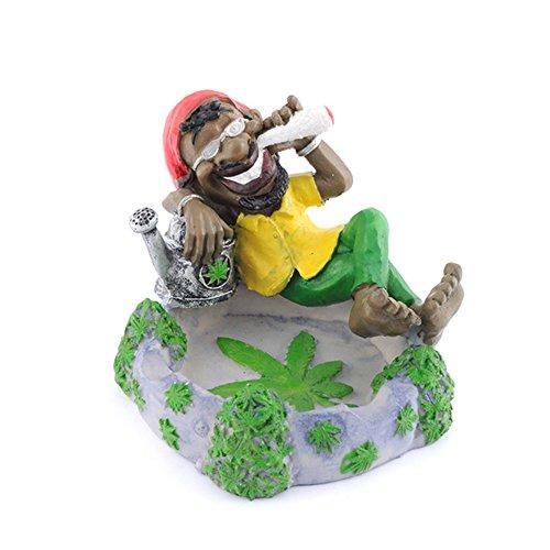 BERTERI Creative Bob Marley Form Fashion Personalisierte Kunstharz Aschenbecher Rauchen Zubehör Dekor Geschenk Aschenbecher für Auto
