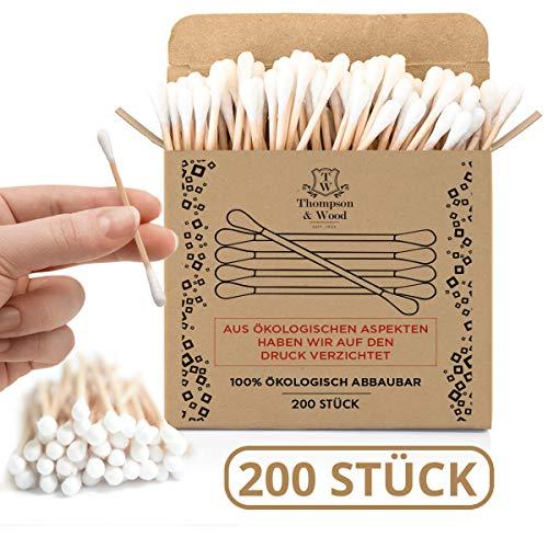 200 bastoncillos algodón bambú biodegradables, 100%