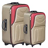 #8: Generic Mofaro Classy Beige & Red Polyester Check-in Luggage (24 + 20)