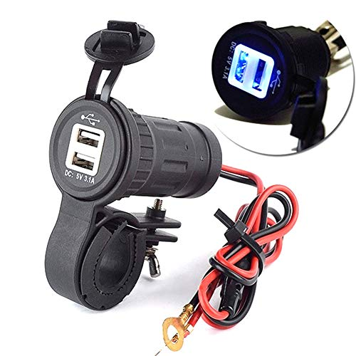 Denret3rgu Wasserdichter 12-24V Steckdose Power Jack Marine Motorräder Dual USB Ladegerät Adapter Schwarz Marine Batterie-spezifikationen