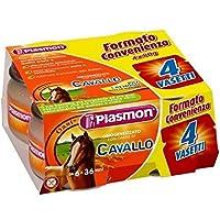 PLASMON Cavallo Pferd homogenisiert Babynahrung 4x 80g ab 6 Monaten 320gr