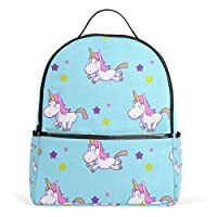 COOSUN Unicorn Pattern School Backpacks Bookbags for Boys Girls Teens Kids