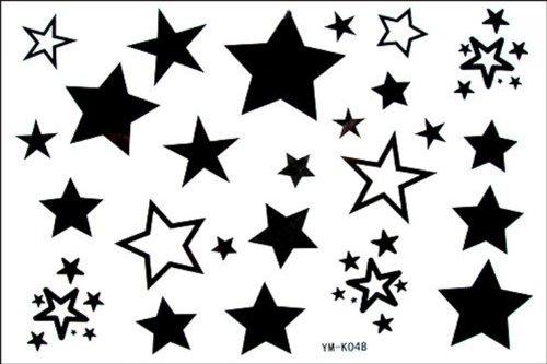 Mode Homme et tatouages étoiles étanches faux femelles faux tatouage étoiles