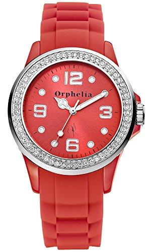 Orphelia Damen-Armbanduhr Vif Analog Quarz Silikon