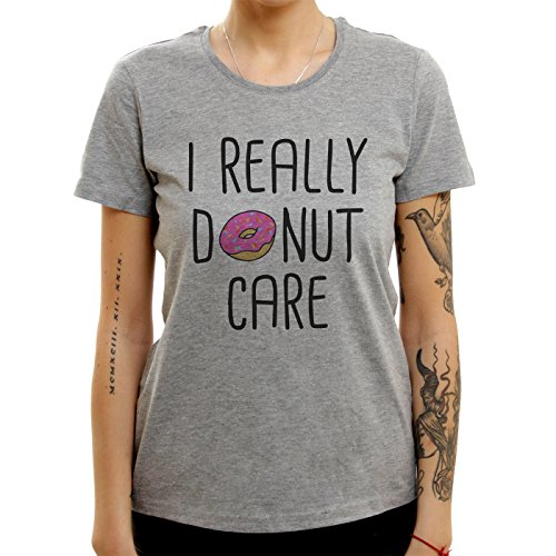 I For Sure Donut Care Logotype Majestic XL Donne T-Shirt