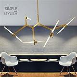 Cwill Moderner, minimalistischer Kunst Dekoration Zweig Pendelleuchten Lampen italienische Design Persönlichkeit Wohnzimmer Restaurant Lampen Lampen, Schwarz, 10 Köpfe