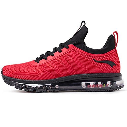 ONEMIX Air Uomo Scarpe da Corsa Sportive Basse Running Sport Sneaker Rosso 42