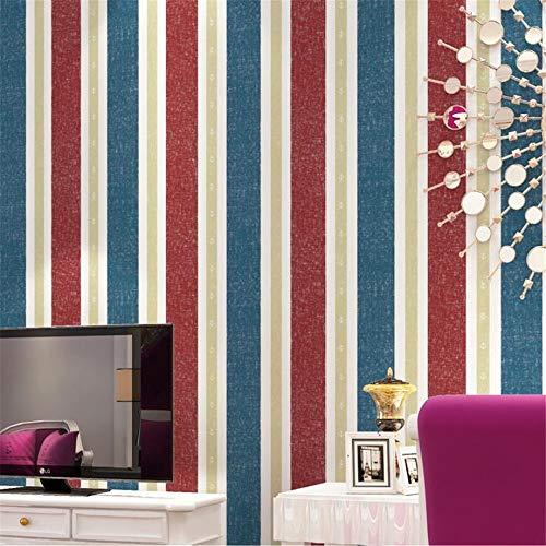 Tapeten Wandbild Hintergrundbild Fototapetepapel De Parede Mediterranean English Stripes Tapeten Für Wohnzimmer Embossed Red Stripe Wall Paper Tv-Hintergrund