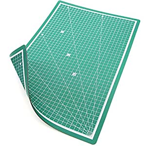 PRETEX Cutting Mat 45 x 30 cm (A3) Green Recycled PVC Base with  Self-Closing, Self-Healing Surface