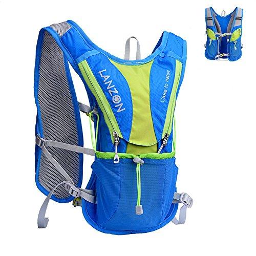 Zaino da Idratazione (NESSUNA Vescica Dell'acqua), Gilet Trail Running - Blu