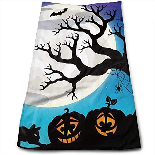 2019 New Halloween Party Soft Polyester Large Hand Towel- Multipurpose Bathroom Towels for Hand, Face, Gym and Spa (In 2019 Halloween-partys London)