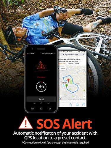 Livall Fahrradhelm MT1 mit Rücklicht, Blinker und SOS-System (schwarz/anthrazit) - 6